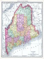 Maine, World Atlas 1913